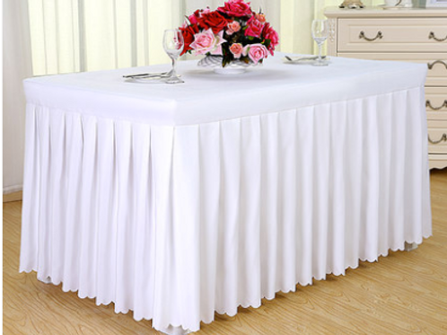 White Tablecloth & Skirting