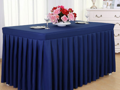 Navy Blue Tablecloth & Skirting