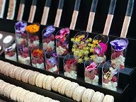bespoke dessert with edible flowers.JPG