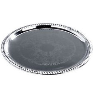 Silver Round Serving Tray