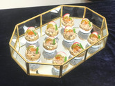 crab meat & salmon roe tart