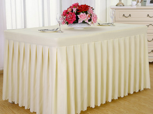 Champagne Yellow Tablecloth & Skirting