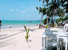 There are some restaurants at the Coconut Beach in Khao Lak.