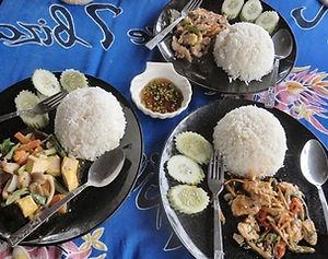 Khao Lak: Essen Gerichte Speisekarte in Khaolak.