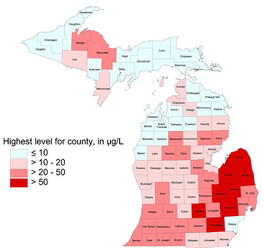arsenic in water, arsenic in water Michigan, arsenic removal, arsenic removal systems, arsenic in groundwater, arsenic in Michigan map