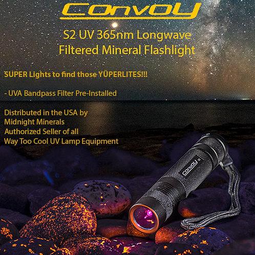 Way Too Cool CONVOY S2 Black 365nm LW Flashlight