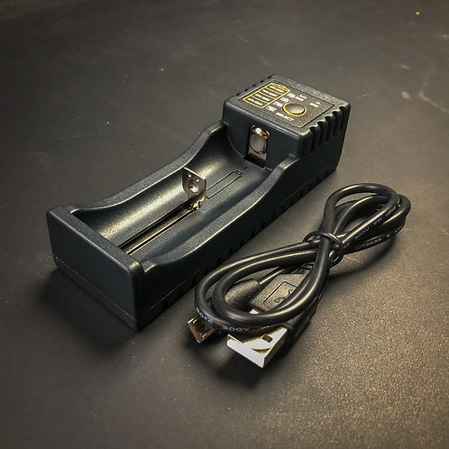 1-Bay 18650 Battery Charger USB for Convoy 365nm UV Flashlights