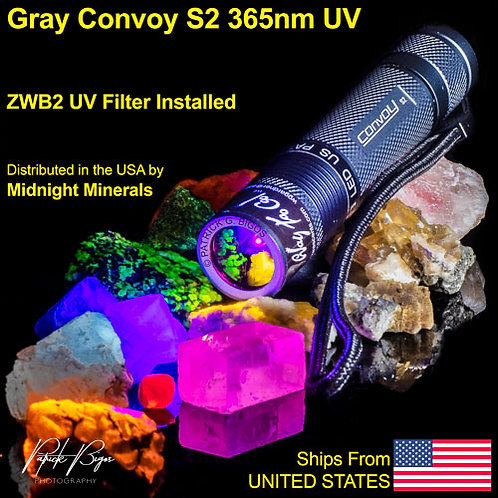 Way Too Cool CONVOY S2 Gray 365nm LW Flashlight