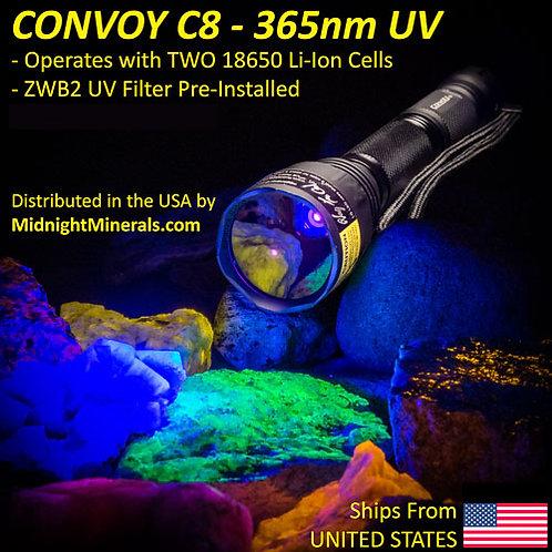 Way Too Cool CONVOY C8 DRAGONFLY - 365nm LW UV Flashlight