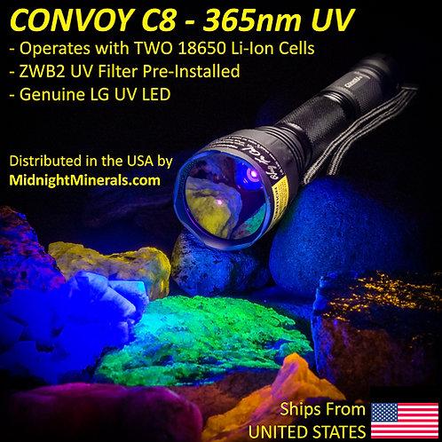CONVOY C8 DRAGONFLY - 365nm LW UV Flashlight