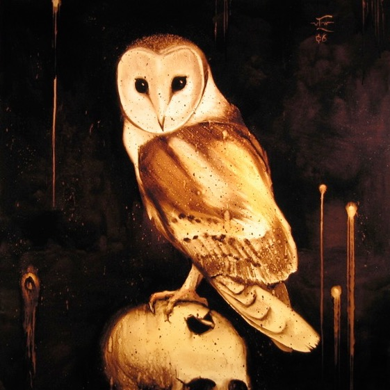 Der Owl, Edward Wilcox, 2006, bitumen on