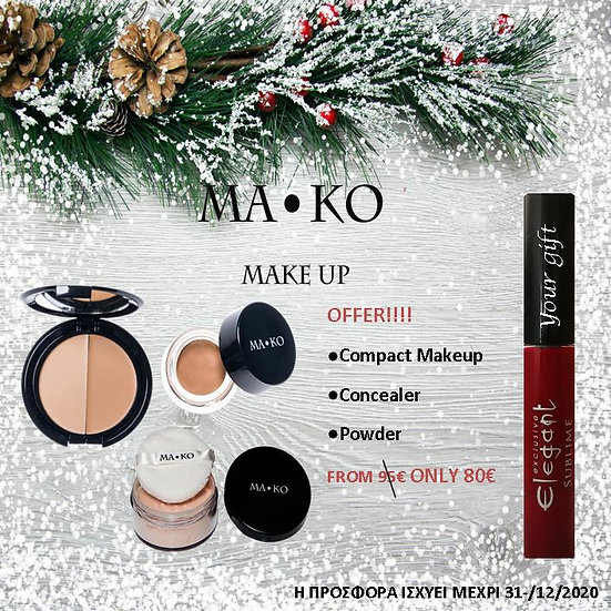 CHRISTMAS COMPACT MAKO MAKEUP GIFT SET