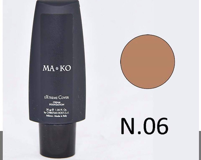 MAKO EXTREME COVER CREAM FOUNDATION N.06