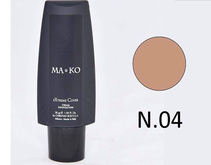 MAKO EXTREME COVER CREAM FOUNDATION N.04