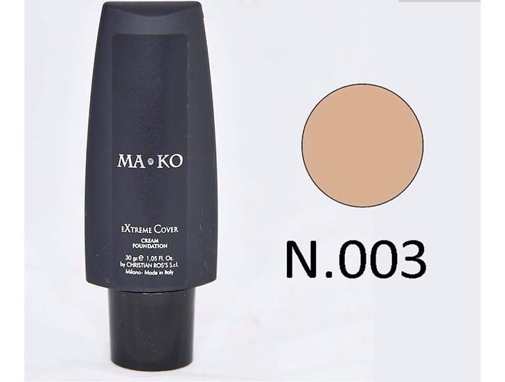 MAKO EXTREME COVER CREAM FOUNDATION N.003 w