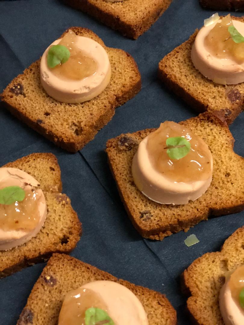 Foie gras op peperkoek