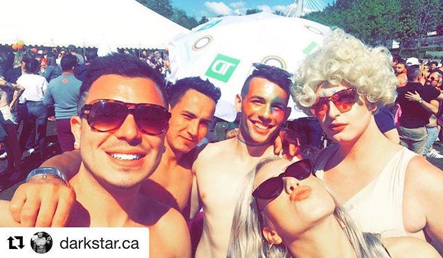 _luna_thiq and _darkstar.ca enjoying Pride! We had an amazing night last night at _famenightclub!_••