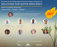 Join our CEO, John Higley, at the CA Water Data Summit  Innovator Showcase on August 20th