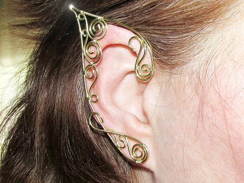 Cercei Urechi de elf Golden Swirls