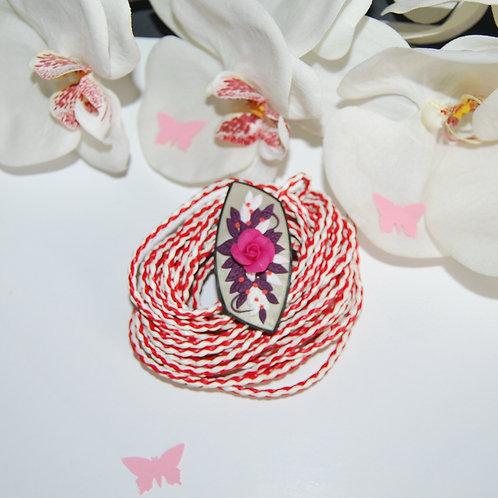Martisor brosa trandafir roz