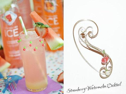 Cercel ear cuff Strawberry Watermelon Cocktail