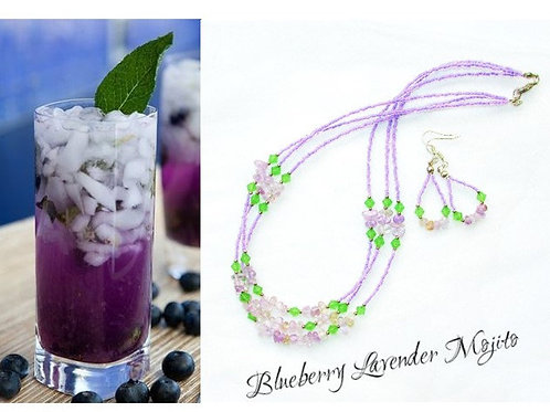 Set de bijuterii Blueberry Lavender Mojito Cocktail