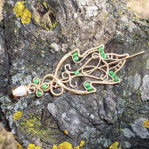 Broșăpentru șal Elven Leaf