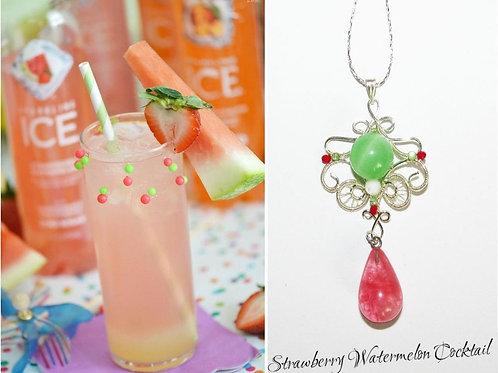 Pandantiv Strawberry Watermelon Cocktail