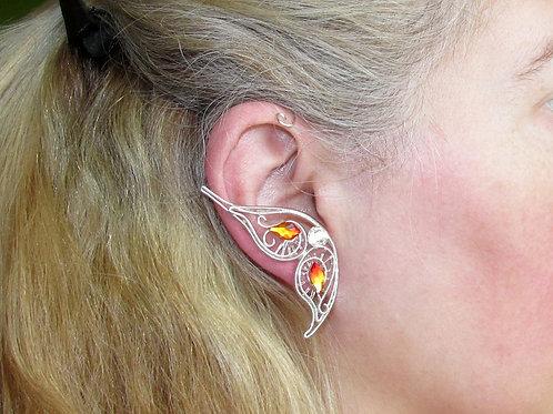Cercel ear cuff Magic Fire Butterfly