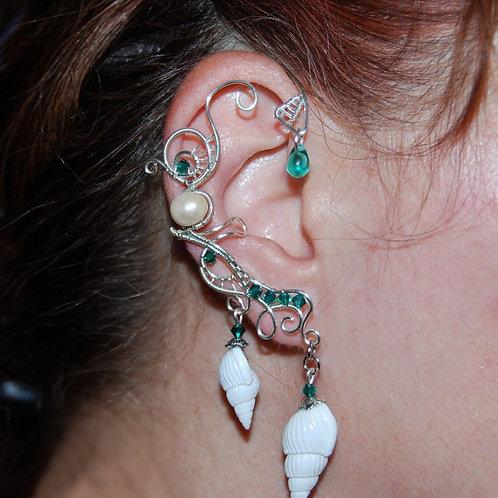 Cercel ear cuff Ocean Whispers