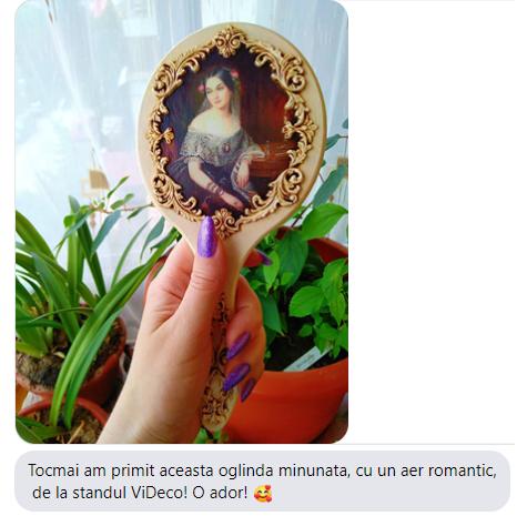 Produs: Oglinda de mana ivory de la ViDeco