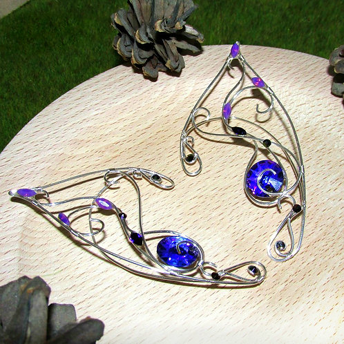 Cercei Urechi de elf Purple Sun
