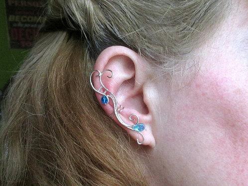 Cercel ear cuff Bits of Blue