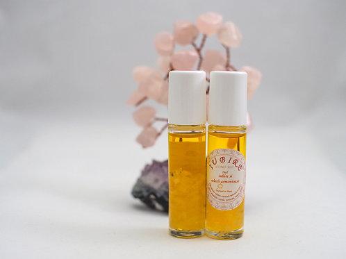 Roll on cu uleiuri esentiale si cristale de cuart roz IUBIRE