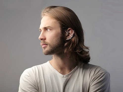 Cercel ear cuff Silver Moon
