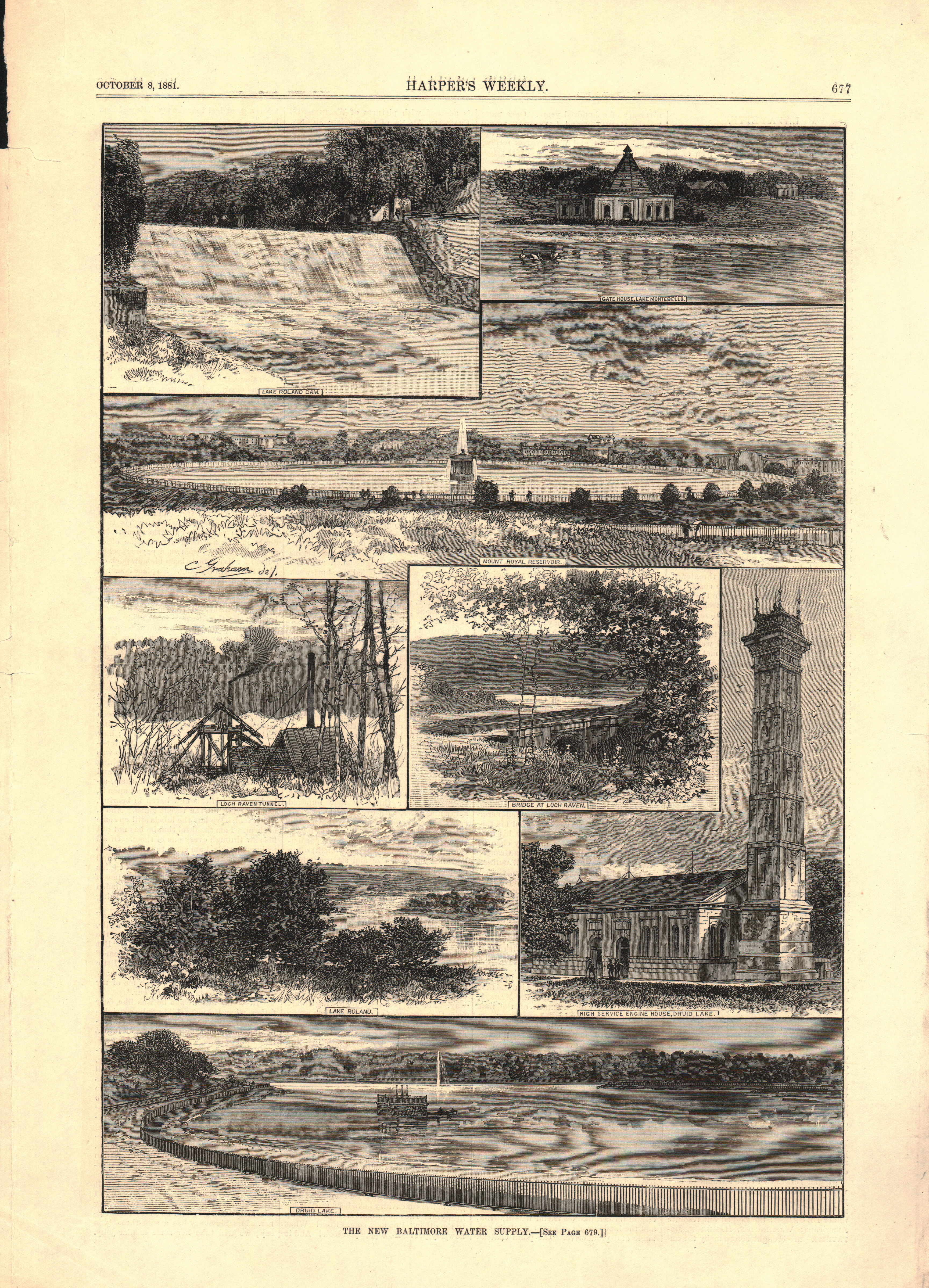 View of Baltimore Water Supply