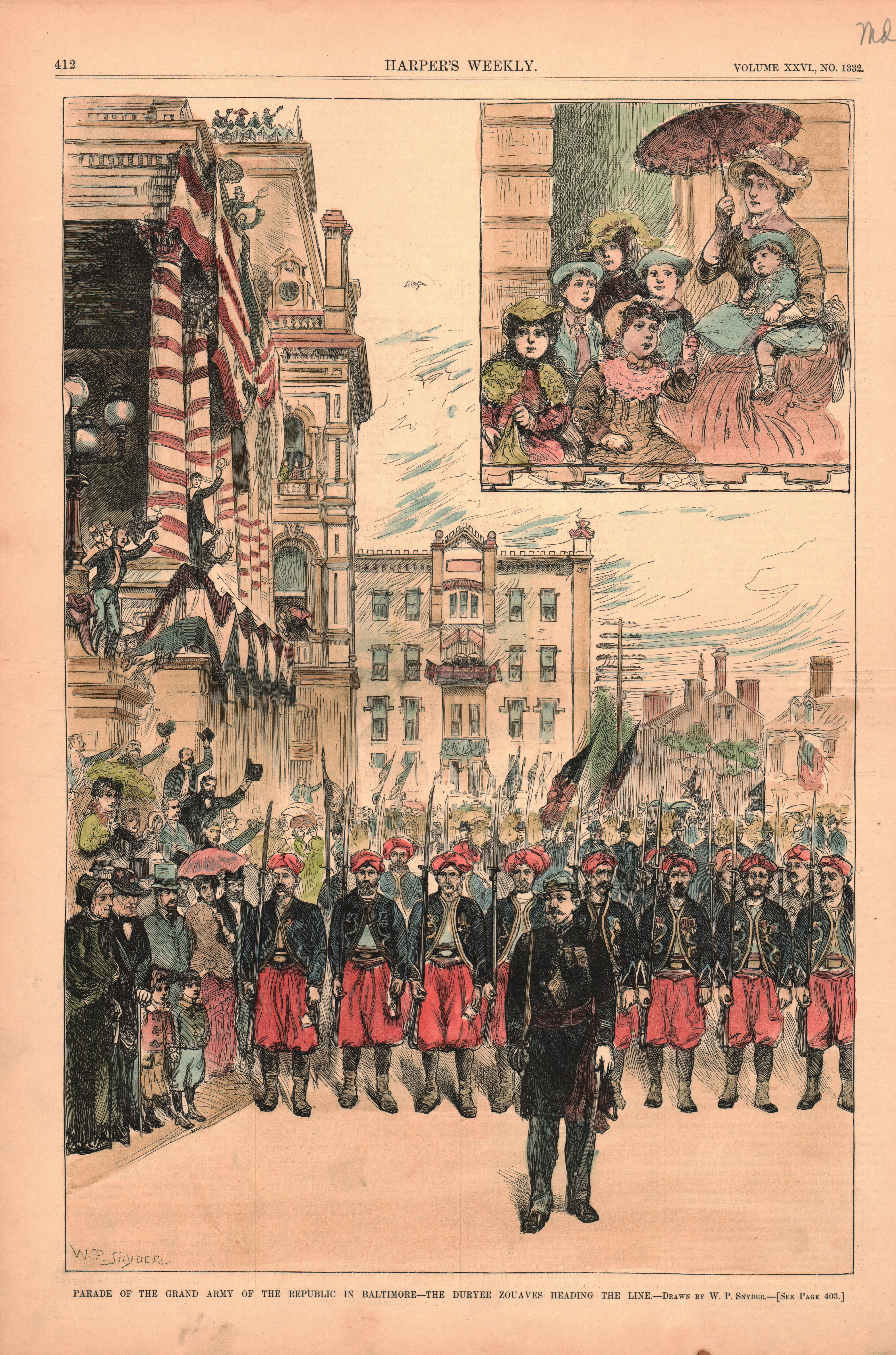 Parade of the Grand Army of the Republic in Baltimore