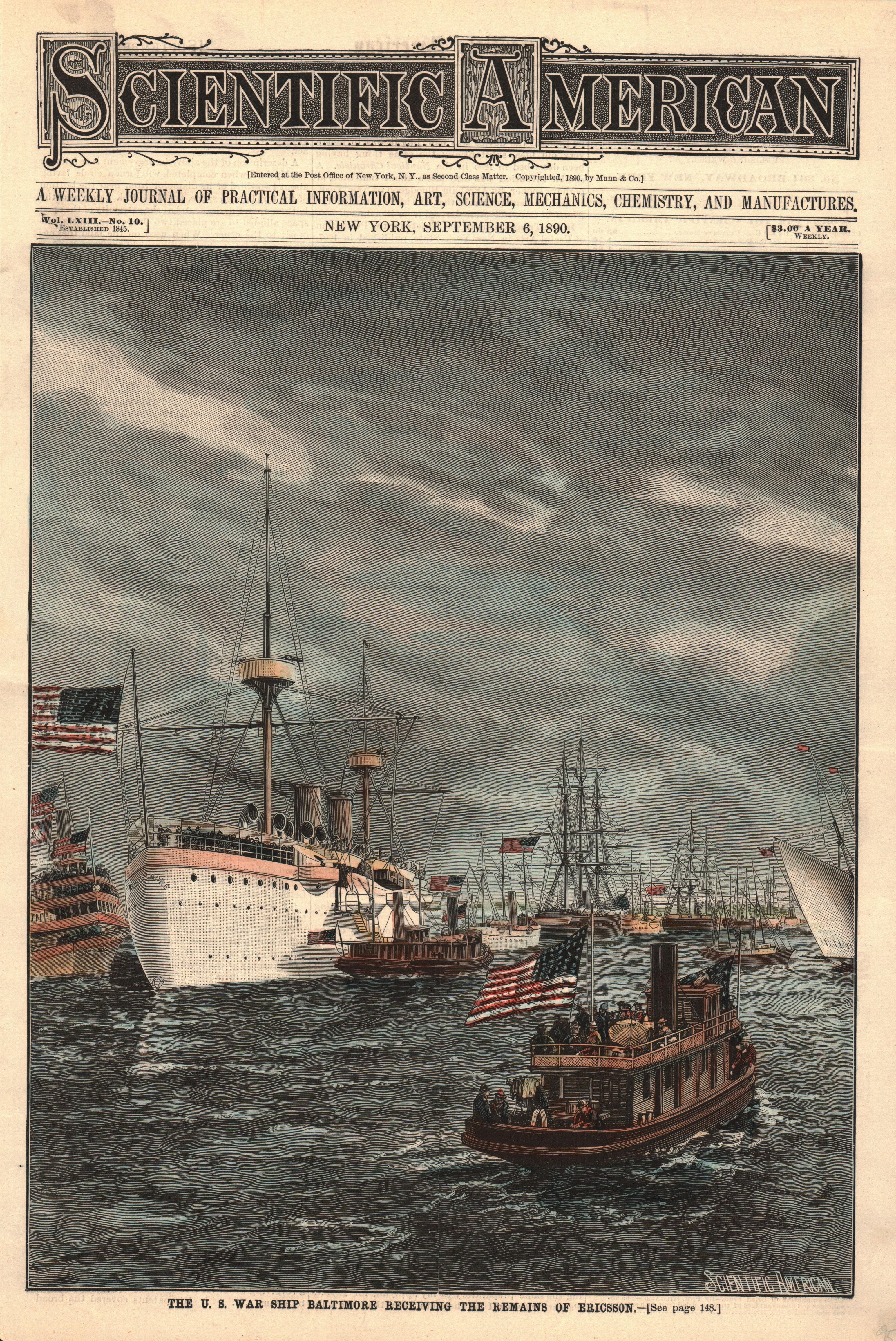 US War Ship Baltimore