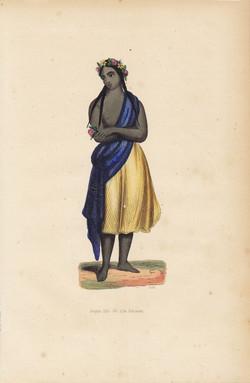 Jeune fille de l'ile Pitcairn