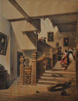 Staircase, Aston Hall, Warwickshire