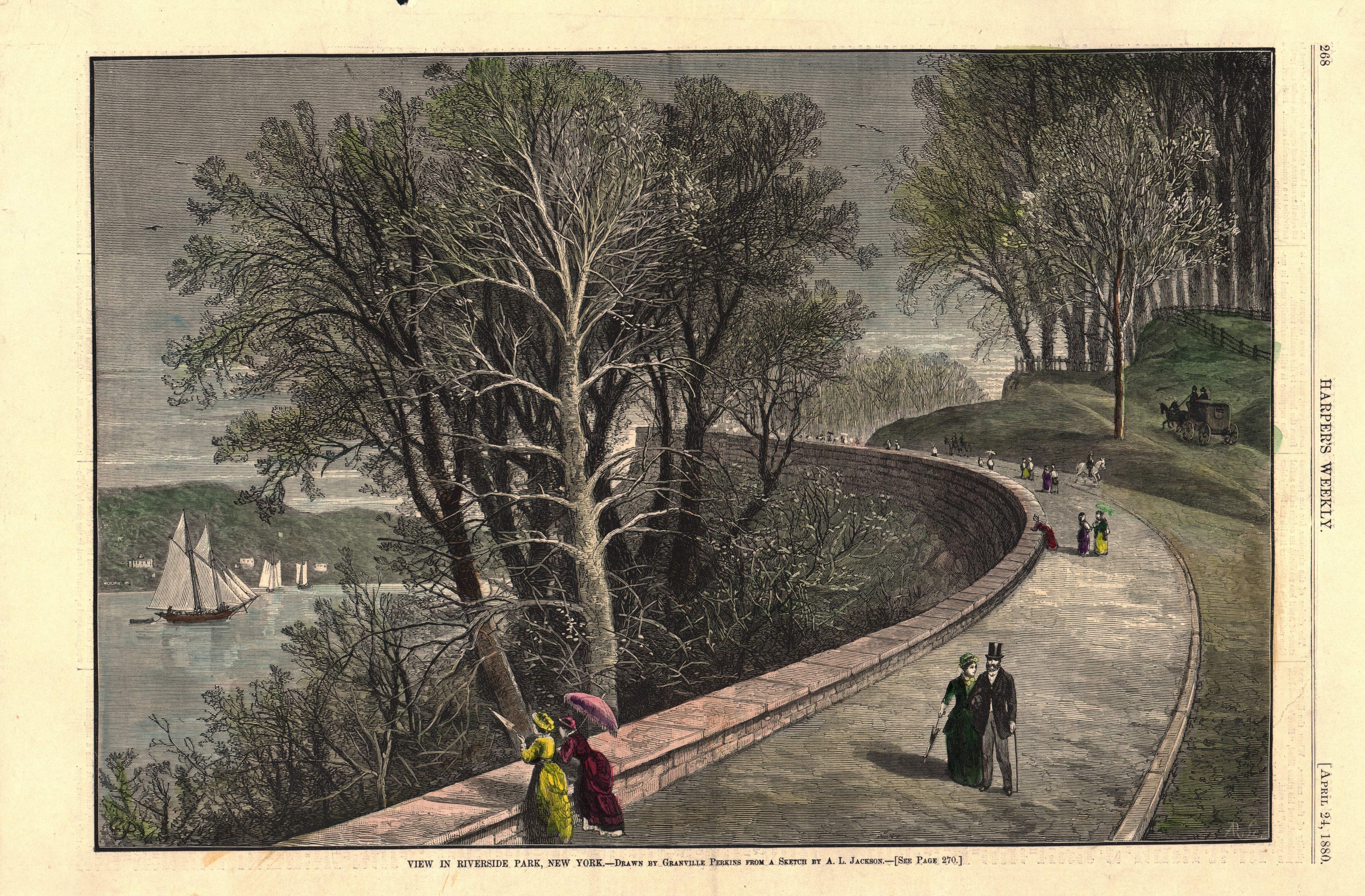 View in Riverside Park, NY