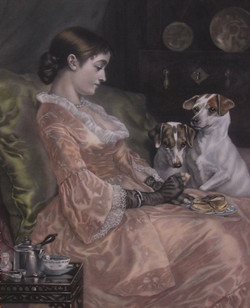Girl and her Jack Russells