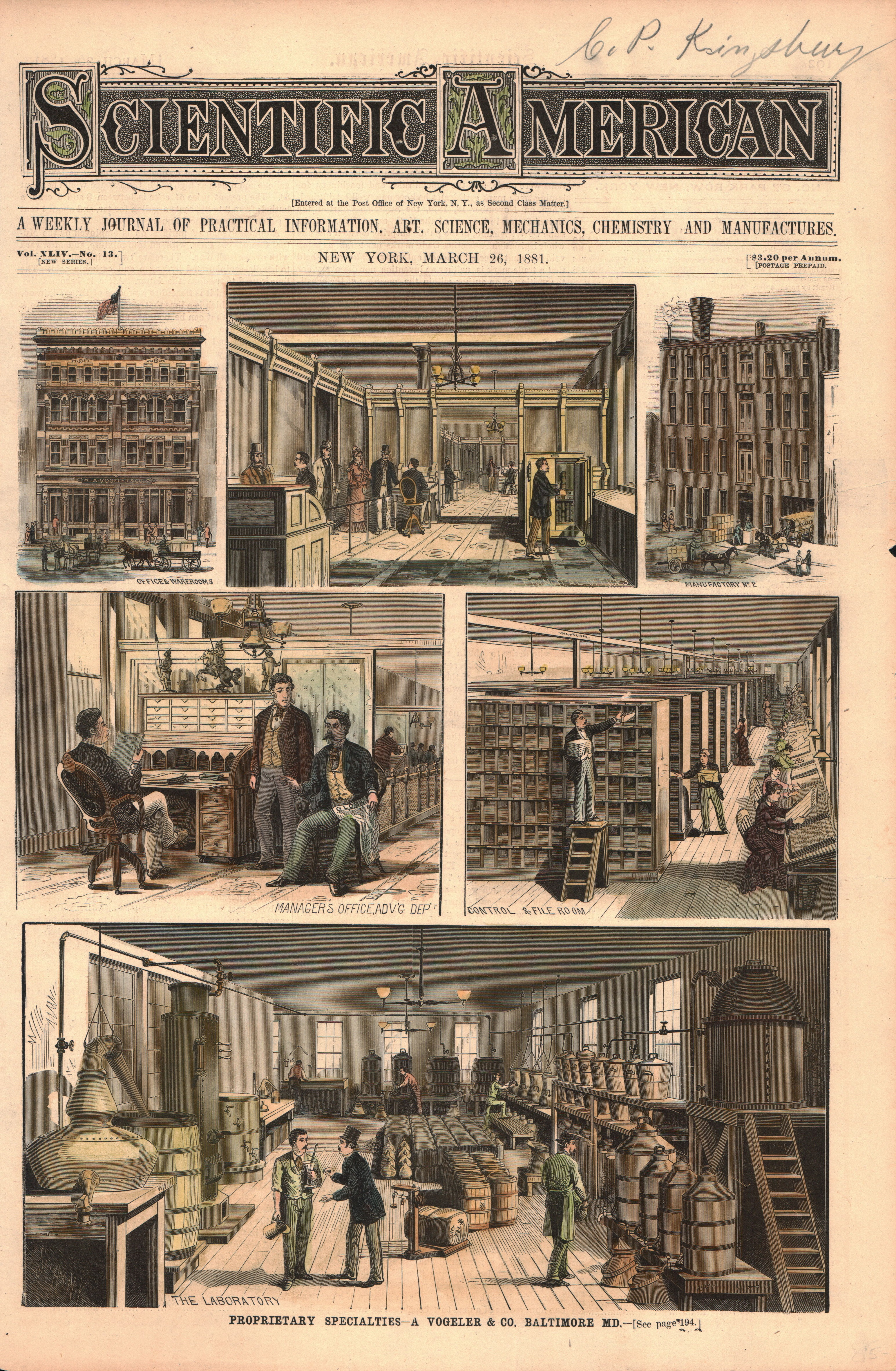 Proprietary Specialties-A Vogeler & Co. in Baltimore, MD