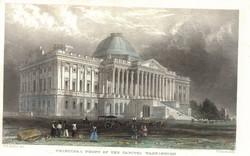 Principal Front of the Capitol, Washington