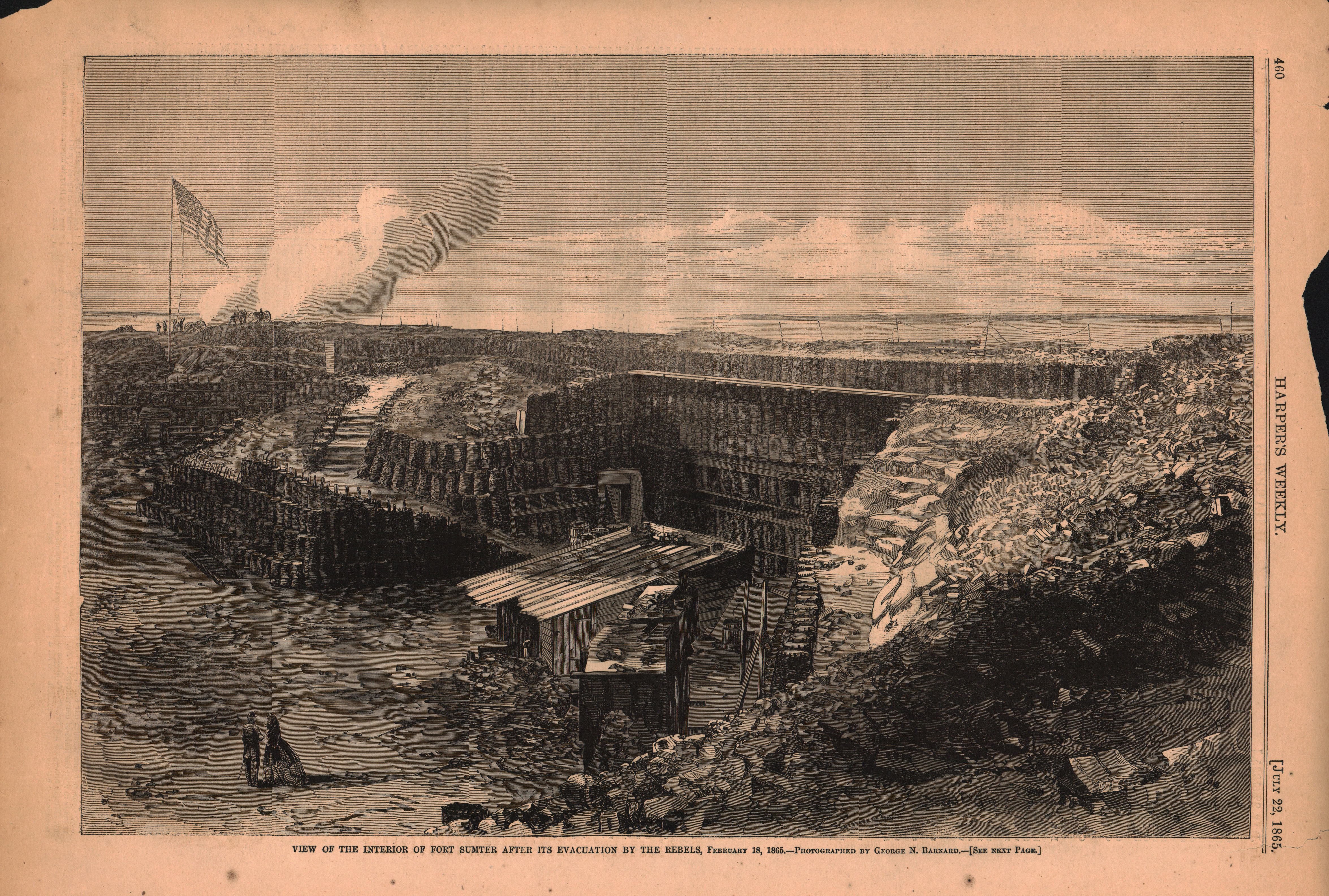View of the interior of Fort Sumter