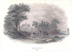 Mount Vernon Rear View in 1796