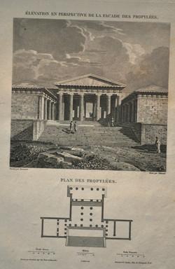 Elevation & Plan of the Propylees