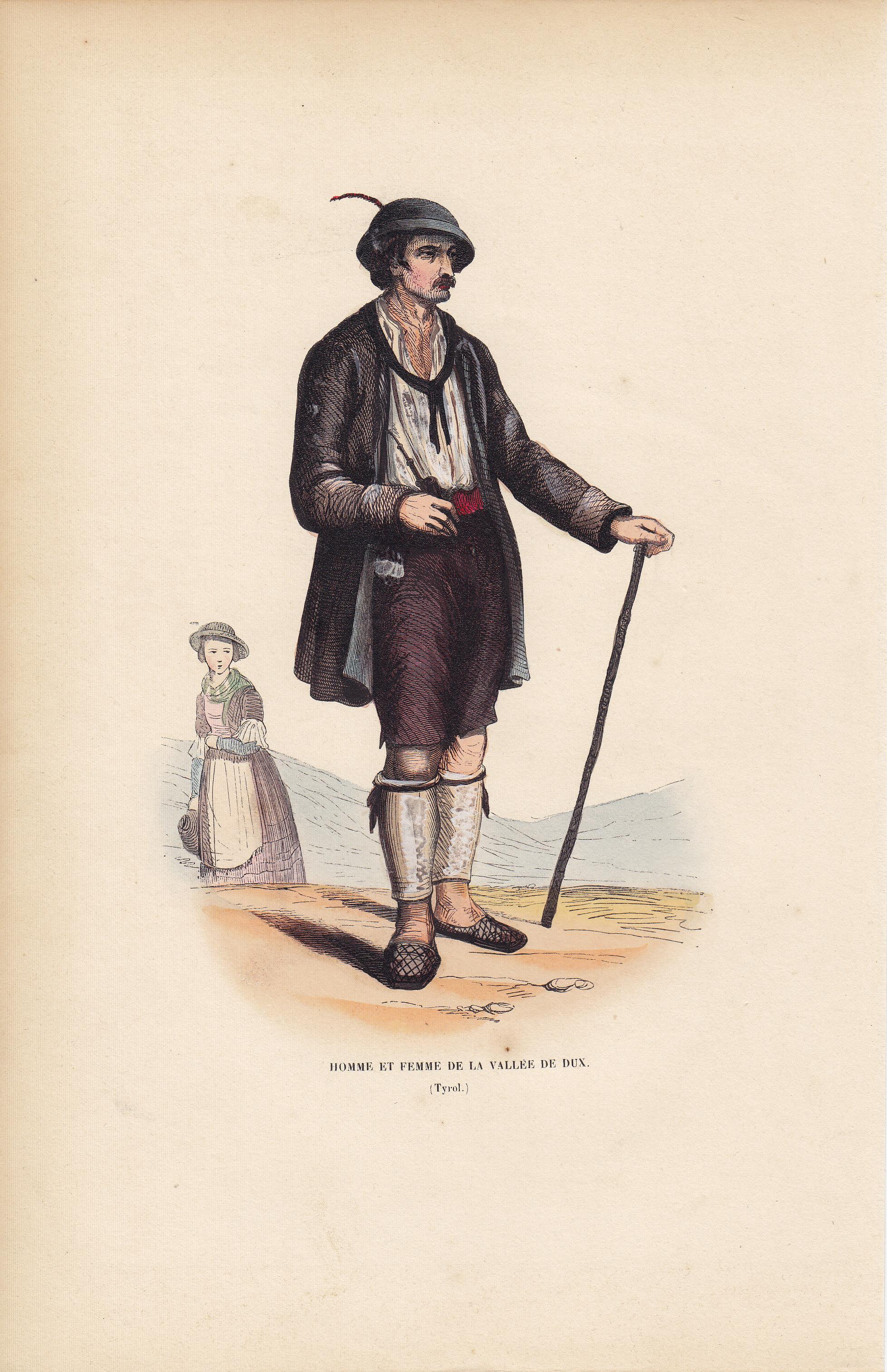 Homme Et Femme De La Vallee De Dux