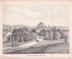 View in Central Park, 1861