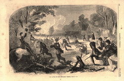 The battle of Rich Mountain, VA, July 13, 186